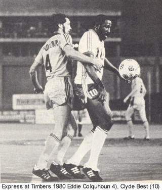 NASL Soccer Detroit Express 81 Road Back Eddie Colquhoun Timbers Clyde Best