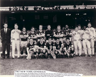 New York Generals 1967 Team Photo