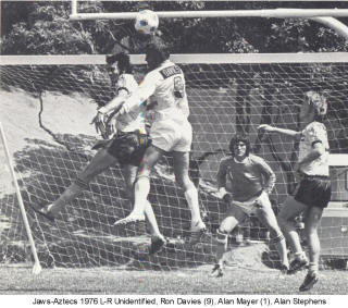 NASL Soccer San Diego Jaws 76 Home Back Alan Stephens, Alan Mayer