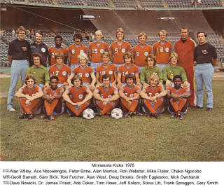 Minnesota Kicks 76 Road Team