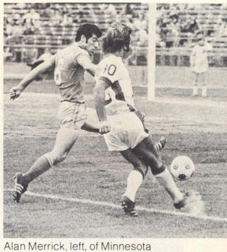 NASL Soccer Minnesota Kicks 78 Road Back Alan Merrick