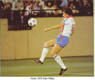 NASL Soccer Minnesota Kicks 79 Home Back Alan Willey Back