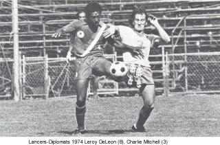 NASL Soccer Rochester Lancers 74 Home Charlie Mitchell