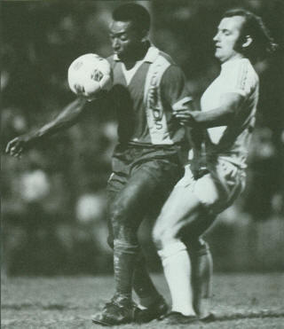 NASL Soccer Rochester Lancers 1975 Charlie Mitchell, Cosmos Pele