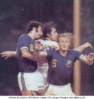 NASL Soccer Rochester Lancers 76 Road Nelson Cupello, Nick Mijatovic