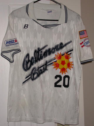 Blast 90-91 Road Jersey Mark Mettrick
