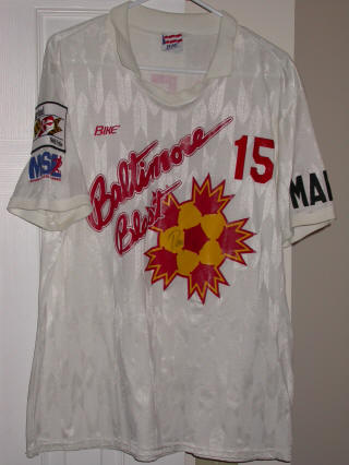 Blast 91-92 Road Jersey Doug Neeley