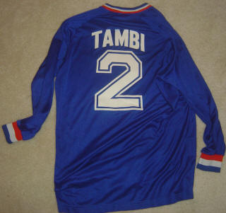 Express 86-87 Home Jersey Kaz Tambi Back