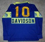 Force 81-82 Home Jersey Vic Davidson Back