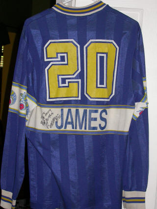Force 86-87 Home Jersey Bernie James Back