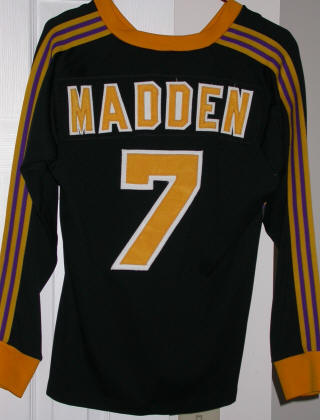 Lazers 85-86 Home Jersey Dave Madden Back