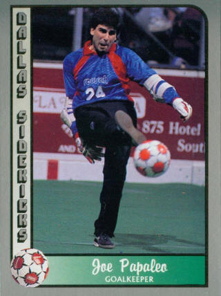 Sidekicks 89-90 Goalie Joe Papaleo