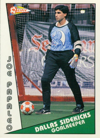 Sidekicks 90-91 Goalie Joe Papaleo