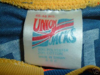 Stars 89-90 Home Jersey Brent Goulet Union Jacks Tag