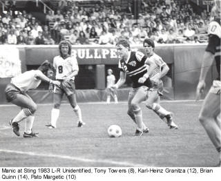 NASL Soccer Montreal Manic 83 Home Tony Towers 2