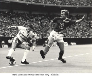 NASL Soccer Montreal Manic 83 Road Tony Towers