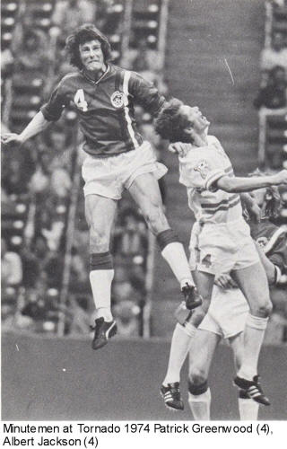 NASL Soccer Boston Minutemen 74 Road Patrick Greenwood