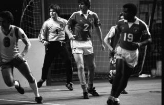Rogues 79-80 Indoor Road Bobby Thomson, Houska, St. Lot, Roughnecks 80-01-17