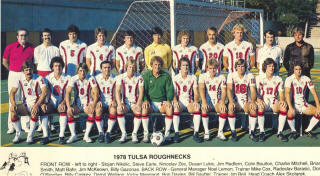 NASL Soccer Tulsa Roughnecks 78 Home Team