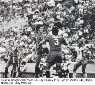 NASL Soccer Tulsa Roughnecks 78 Road Don O'Riordan 3 Kicks