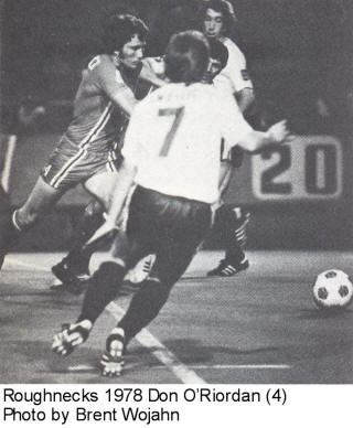 NASL Soccer Tulsa Roughnecks 78 Road Don O'Riordan