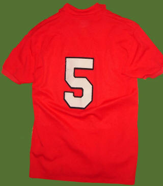 NASL Soccer Tulsa Roughnecks 78 Road Jersey Colin Waldron Back