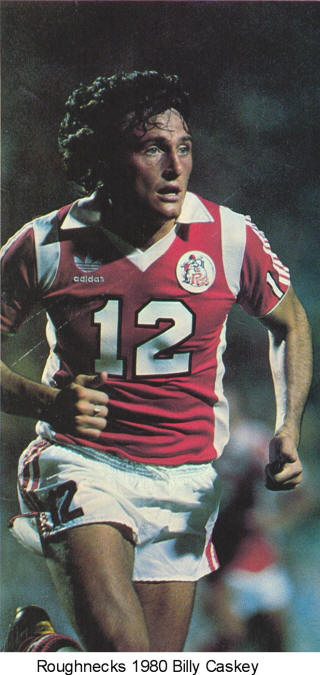 NASL Soccer Tulsa Roughnecks 80 Road Billy Caskey