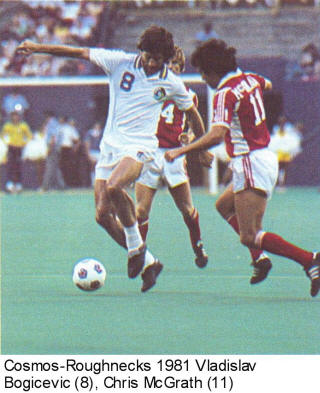 NASL Soccer Tulsa Roughnecks 81 Road back Chris McGrath Cosmos Bogicevic