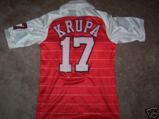 NASL Soccer Tulsa Roughnecks 83-84 Indoor Road Jersey Adam Krupa Back