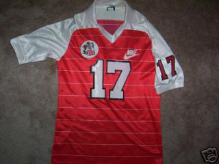 NASL Soccer Tulsa Roughnecks 83-84 Indoor Road Jersey Adam Krupa