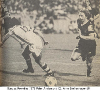 NASL Soccer Tampa Bay Rowdies 78 Home Back Peter Anderson