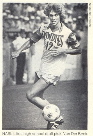 NASL Soccer Tampa Bay Rowdies 79 Home Perry Van Der Beck