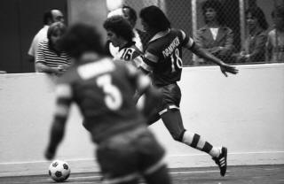 Rowdies 79-80 Indoor Road Back Sandje Ivanchukov, John Gorman, Strikers