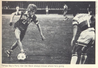 NASL Soccer Tampa Bay Rowdies 79-80 Road Perry Van Der Beck