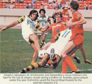 Rowdies 80 Home Oscar Fabbiani, McLeod, Taber Drillers Bernie James