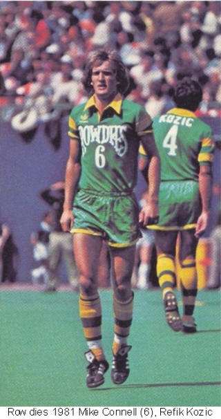 NASL Soccer Tampa Bay Rowdies 81 Road Mike Connell Refik Kozic