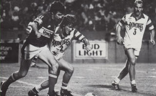 NASL Soccer Tampa Bay Rowdies 83 Home Gregg Thompson, Glenn Myernick, Whitecaps Peter Lorimer