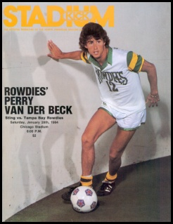 NASL Soccer Tampa Bay Rowdies 83-84 Indoor Home Perry Van Der Beck
