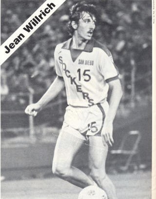 NASL Soccer San Diego Sockers 79 Home Jean Willrich