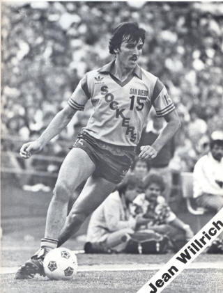 NASL Soccer San Diego Sockers 82 Home Jean Willrich