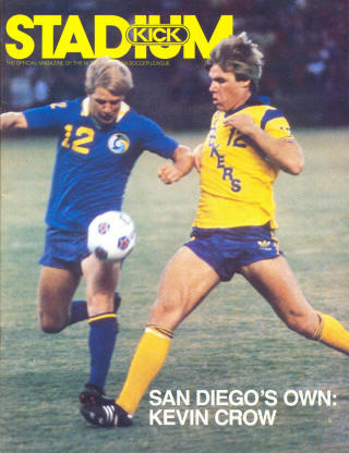 NASL Soccer San Diego Sockers 83-84 Home Kevin Crow