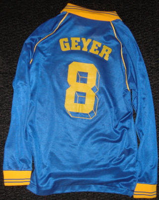 Sockers 84-85 Home Jersey Eric Geyer Back