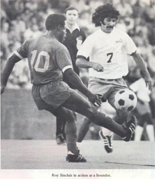 NASL Soccer Seattle Sounders 74 Home Jim Sinclair