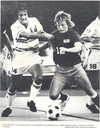 NASL Soccer Seattle Sounders 74 Road Alan Stephens