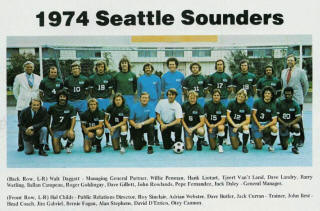 NASL Soccer Seattle Sounders 74 Road Team