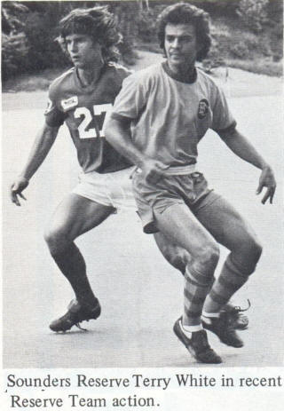 NASL Soccer Seattle Sounders 77 Road Terry White