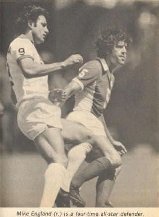 NASL Soccer Seattle Sounders 78 Road Mike England