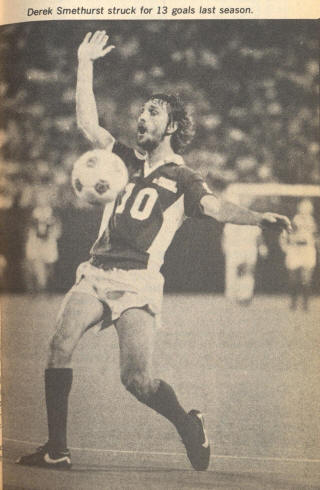 NASL Soccer Seattle Sounders 79 Road Derek Smethurst
