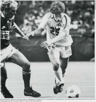 NASL Soccer Seattle Sounders 82 Home Brian Schmetzer