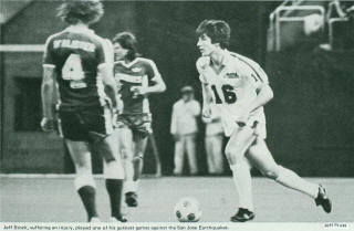 NASL Soccer Seattle Sounders 1982 Home Jeff Stock, Earthquakes